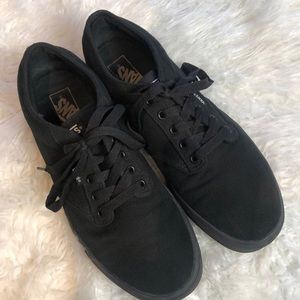 Men's Black Vans Off the Wall Sneakers